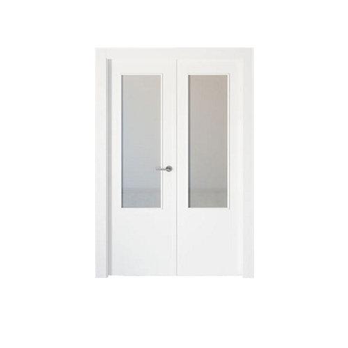 puerta bari blanco de apertura izquierda de 145 cm