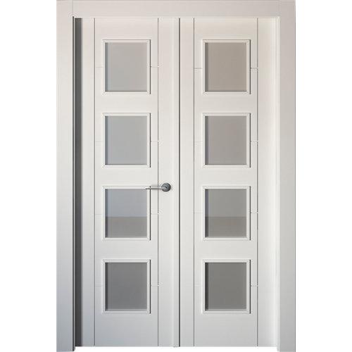 puerta noruega plus blanco de apertura izquierda de 145 cm