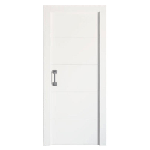 Puerta corredera lucerna blanca de 72,5 cm