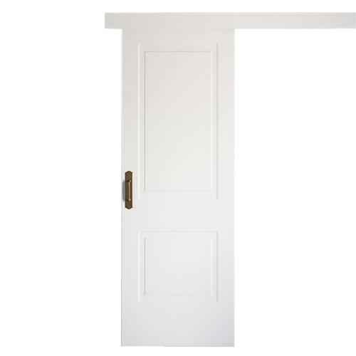 Puerta de interior corredera bayona blanco de 72.5 cm