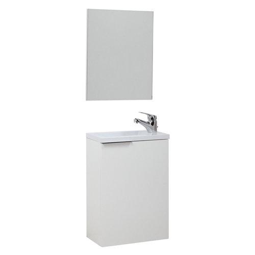 Mueble de baño con espejo compac blanco 40x22 cm