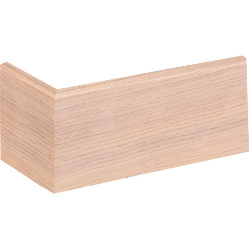Zócalo marrón de mdf 7 cm con pasacable