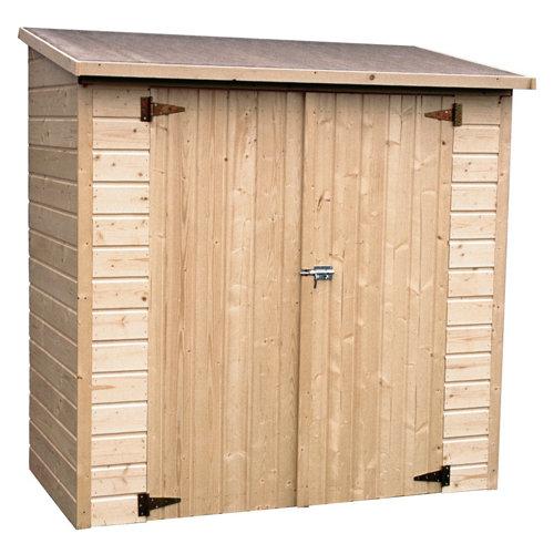 Armario de exterior de madera albecour 182x178x81 cm