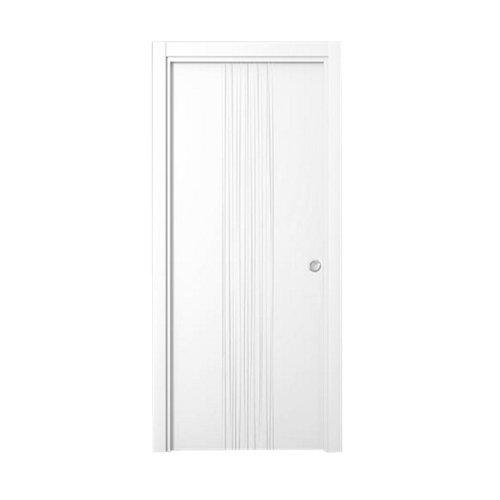 Puerta de interior corredera quevedo blanco de 62.5 cm