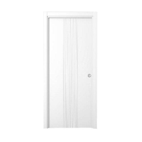 Puerta de interior corredera quevedo blanco de 72.5 cm