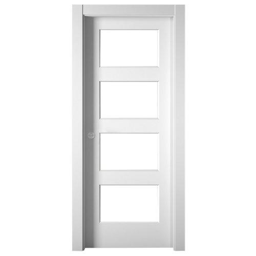 Puerta de interior corredera bosco blanco de 62.5 cm