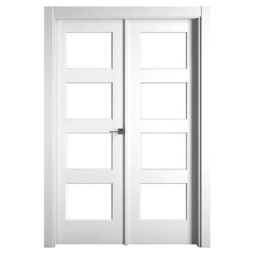 Puerta bosco blanco de apertura izquierda de 145.00 cm