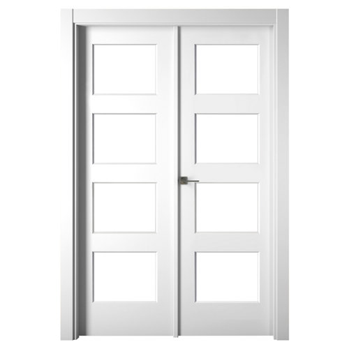 Puerta bosco blanco de apertura derecha de 145.00 cm