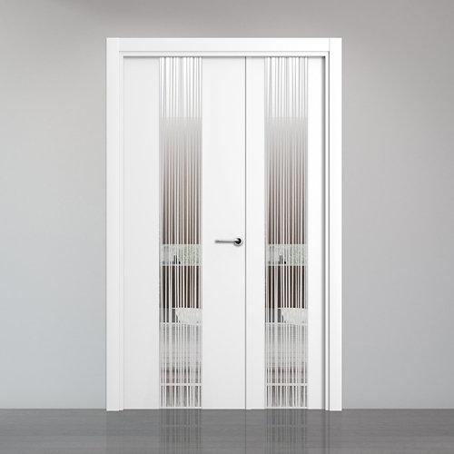 puerta quevedo blanco de apertura izquierda de 115 cm