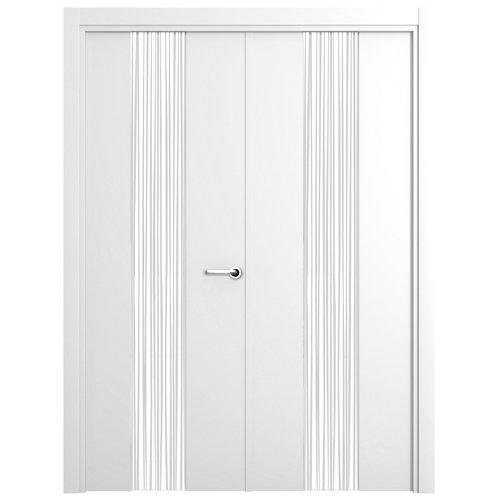 puerta quevedo blanco de apertura izquierda de 145 cm