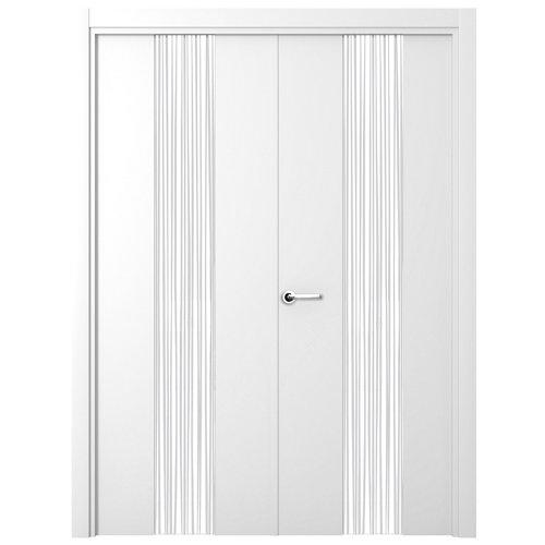 puerta quevedo blanco de apertura derecha de 165 cm