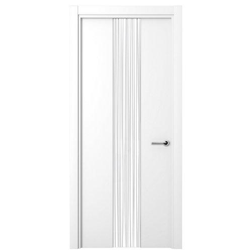 puerta quevedo blanco de apertura izquierda de 62.5 cm