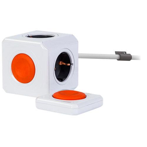 Base múltiple de 4 enchufes powercube con mando a distancia