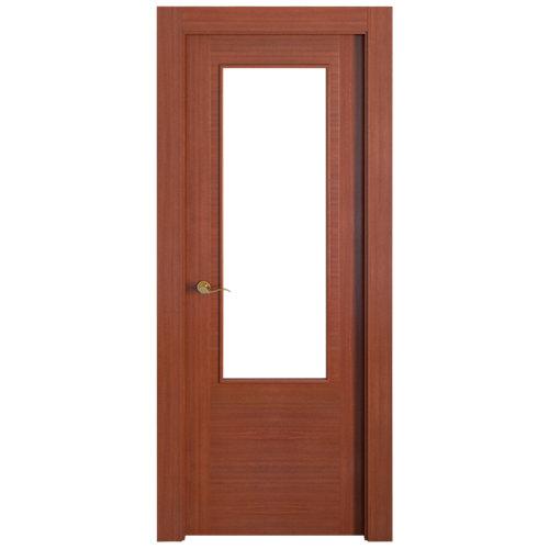 Puerta niza sapelli de apertura derecha de 72.5 cm
