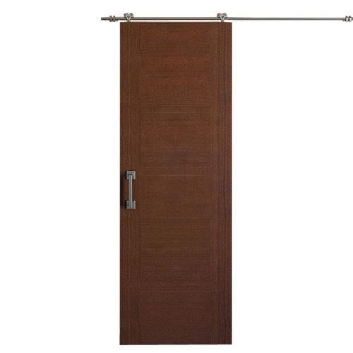 Puerta de interior corredera niza wengué de 72.5 cm