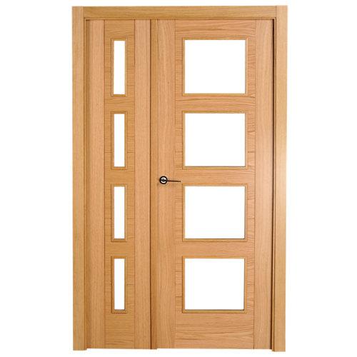 puerta noruega roble de apertura derecha de 115 cm