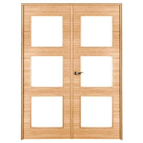 puerta viena roble de apertura izquierda de 145 cm