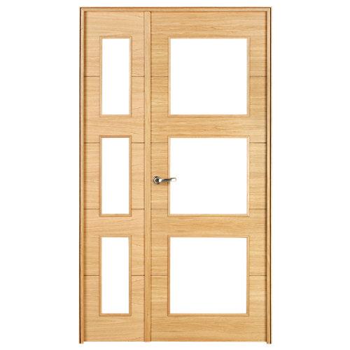 puerta viena roble de apertura izquierda de 105 cm