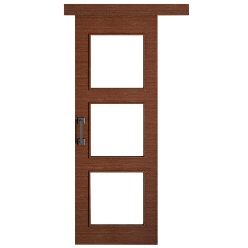 Puerta de interior corredera viena wengué de 62.5 cm