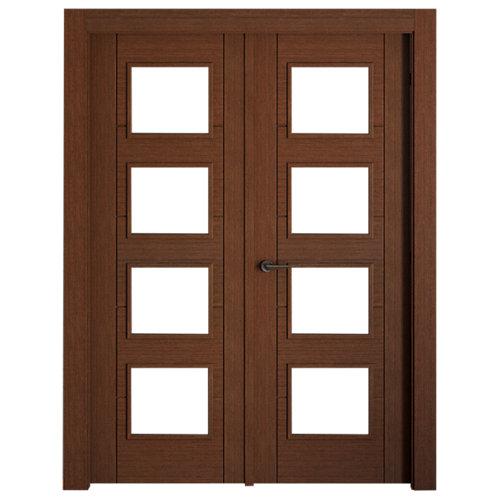 puerta noruega wengué de apertura derecha de 145 cm