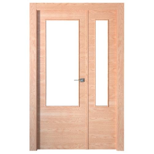 puerta lisboa roble de apertura izquierda de 125 cm