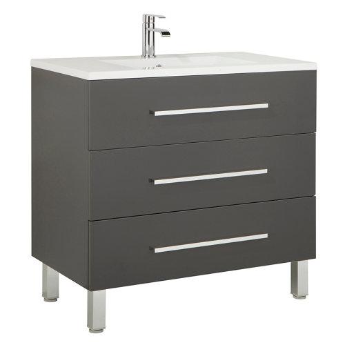 Mueble de baño madrid gris 100 x 45 cm