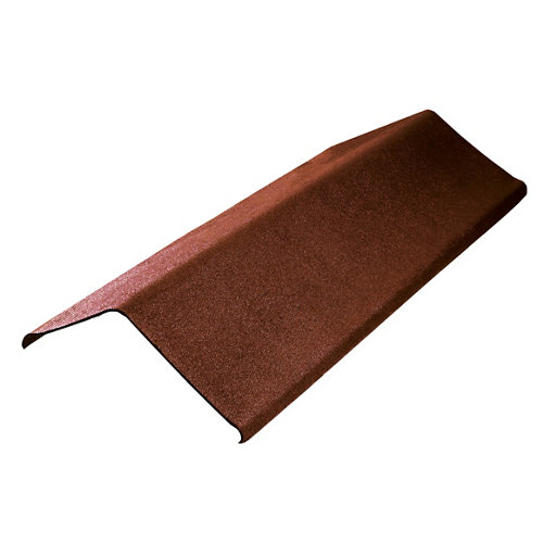 Remate lateral onduline easyfix marrón 100x20 cm