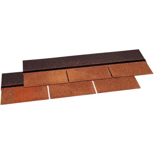 Tégola asfáltica standard marrón otoño 1000x1050x3.5 mm