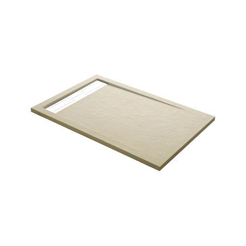 Plato ducha rectangular atlas 120x70 cm beige