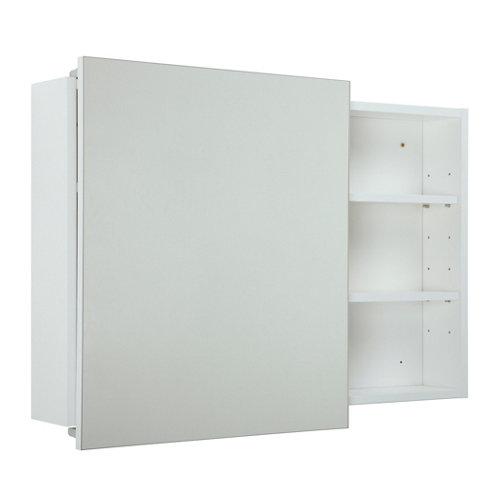Armario de baño con espejo alicia blanco 80x58x12 cm