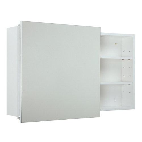 Armario de baño con espejo alicia blanco 100x58x12 cm