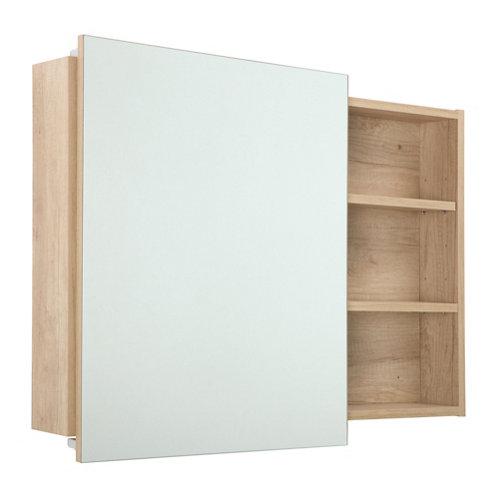 Armario de baño con espejo alicia nature 80x58x12 cm