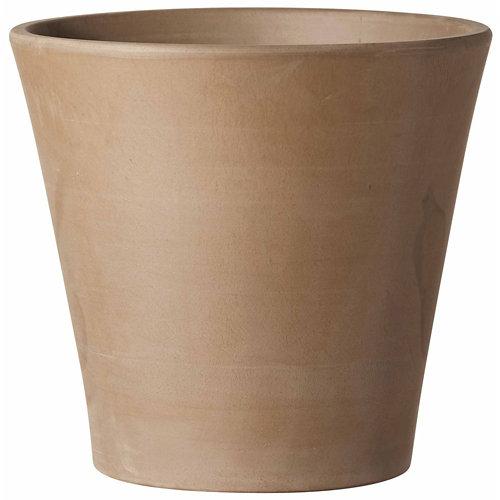 Maceta de arcilla deroma gris 16x14.7 cm