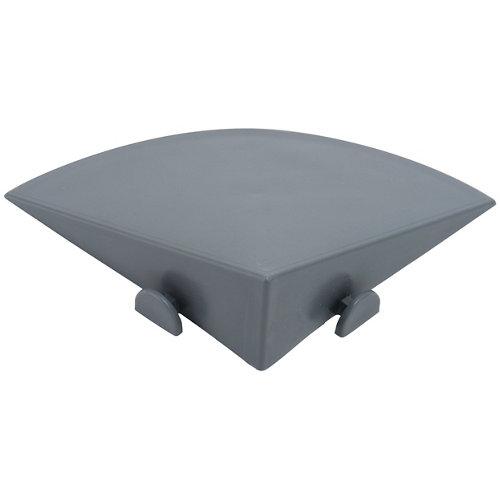 Perfil de polietileno gris / plata de 10x3.3 cm