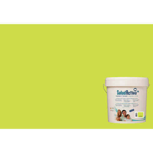 Pintura paredes y techos salud activa verde lima mate 15l