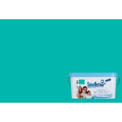 Pintura paredes y techos salud activa azul turquesa mate 4l