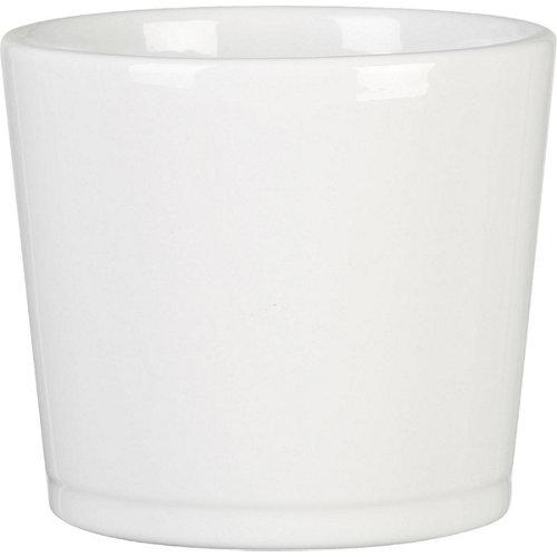 Maceta de cerámica esmaltada scheurich blanco 28x22 cm