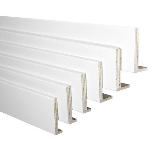 Kit de 6 tapetas en l mdf blanco 80 x 12/10 mm