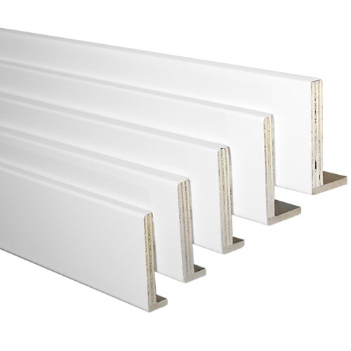 Kit de 5 tapetas en l blanco 80 x 12/10 mm