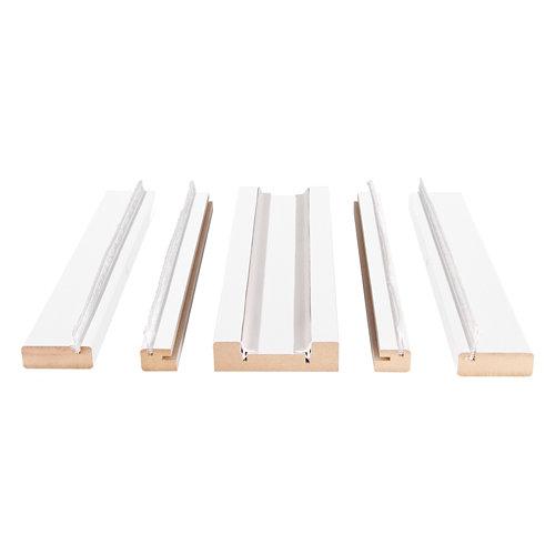 Kit de moldura para casoneto 105 de mdf blanco para puerta corredera