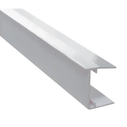 Perfil obturador blanco 1,25 m para placas 32 mm