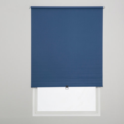 Estor enrollable opaco easy ifit azul de 66x190cm