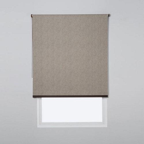 Estor enrollable opaco caleta marrón de 109x230cm