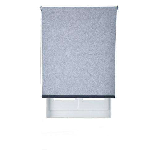 Estor enrollable opaco caleta azul de 124x230cm