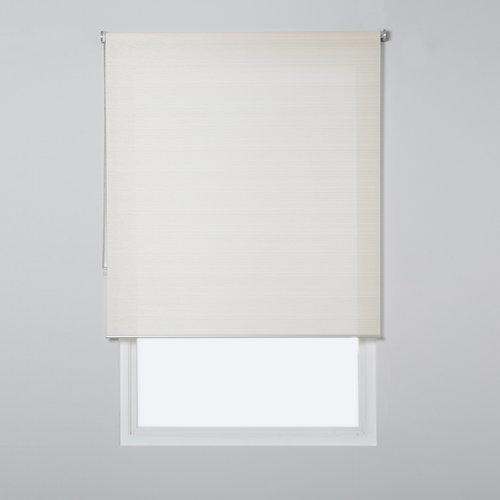 Estor enrollable translúcido city lino beige de 109x230cm