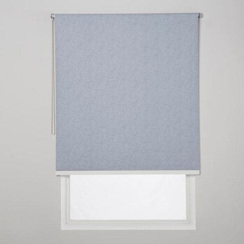 Estor enrollable opaco caleta azul de 109x230cm