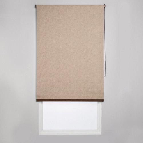 Estor enrollable opaco caleta ln beige de 109x230cm