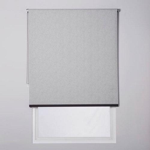 Estor enrollable opaco caleta gris de 184x230cm