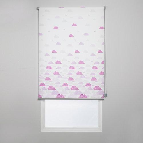 Estor enrollable nubes rosa de 109x250cm