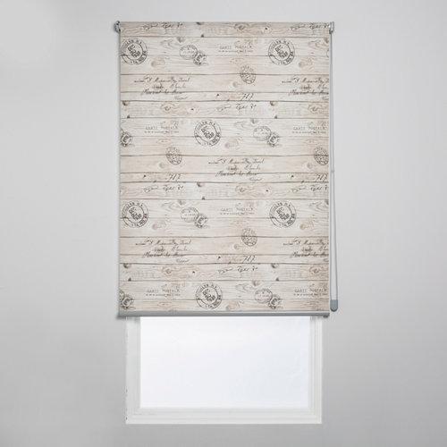 Estor enrollable translúcido madera stamp marrón de 150x250cm
